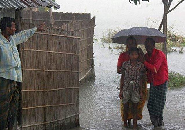 孟加拉国大雨/资料图片/