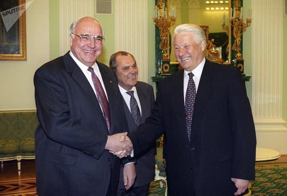 德国总理赫尔穆特·科尔与俄罗斯总统叶利钦(1996)