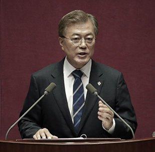 韩国总统支持朝鲜有关以和平协定代替停战协定的提议