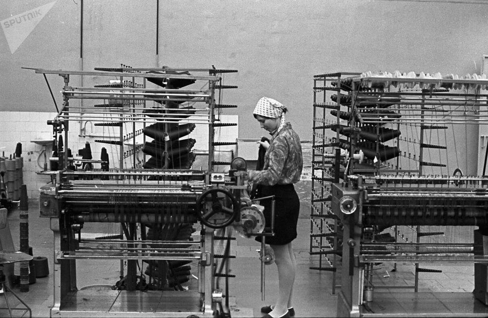 拉脱维亚的针织厂