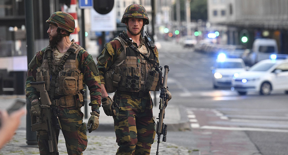 Ситуация на Центральном вокзале Брюсселя после взрыва, 20 июня 2017.