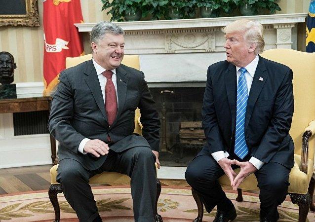 乌克兰总统波罗申科会见美国总统特朗普