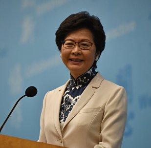 """林郑月娥将依据""""共同身份认同""""原则教育香港青年"""