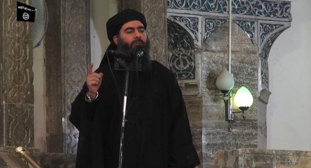 """极端恐怖组织""""伊斯兰国"""" (在俄罗斯被禁止)的首领阿布·巴克尔·巴格达迪"""