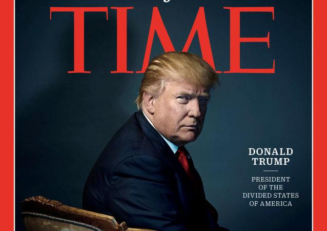 《时代周刊》要求从特朗普高尔夫球俱乐部移除该杂志假封面