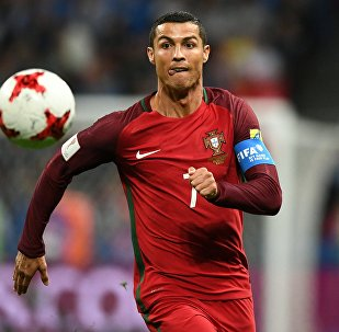 Криштиану Роналду (Португалия) во время матча 1/2 финала Кубка конфедераций-2017 по футболу между сборными Португалии и Чили