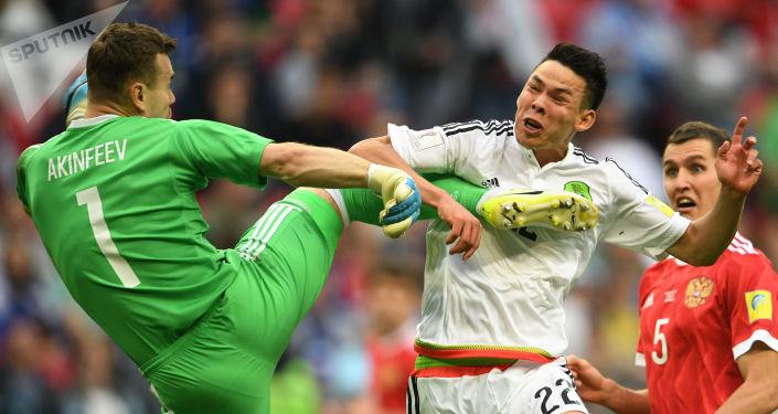 守门员阿金费耶夫被俄罗斯人称为联合会杯俄国家队最佳球员