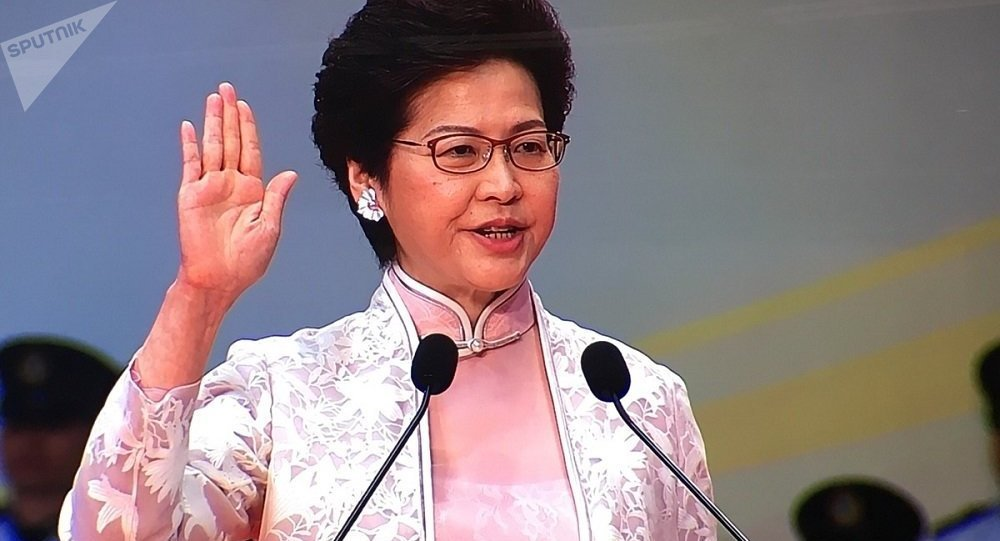 香港特首林郑月娥会见青年代表
