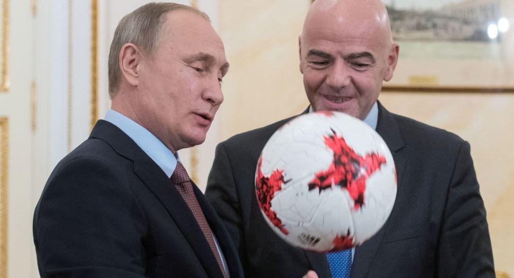 普京对与国际足联筹备俄罗斯世界杯进行有效合作充满信心