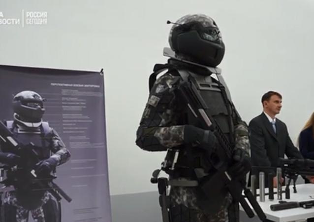 """""""未来战士""""装备亮相莫斯科展会"""