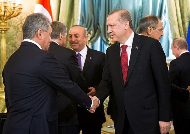 土总统和俄防长举行会谈