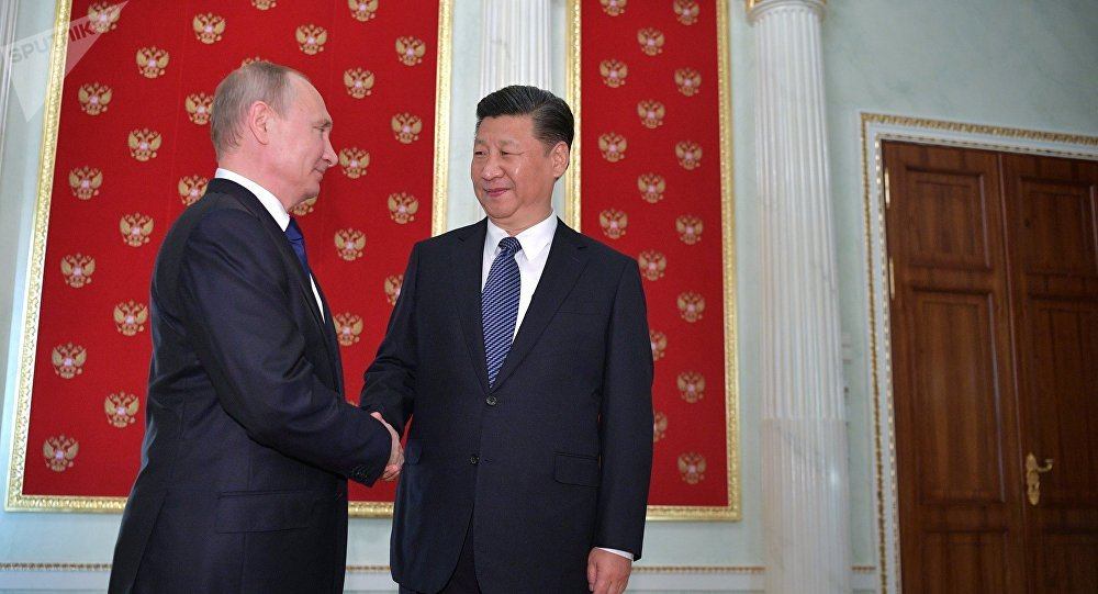 俄罗斯总统普京与中国主席习近平