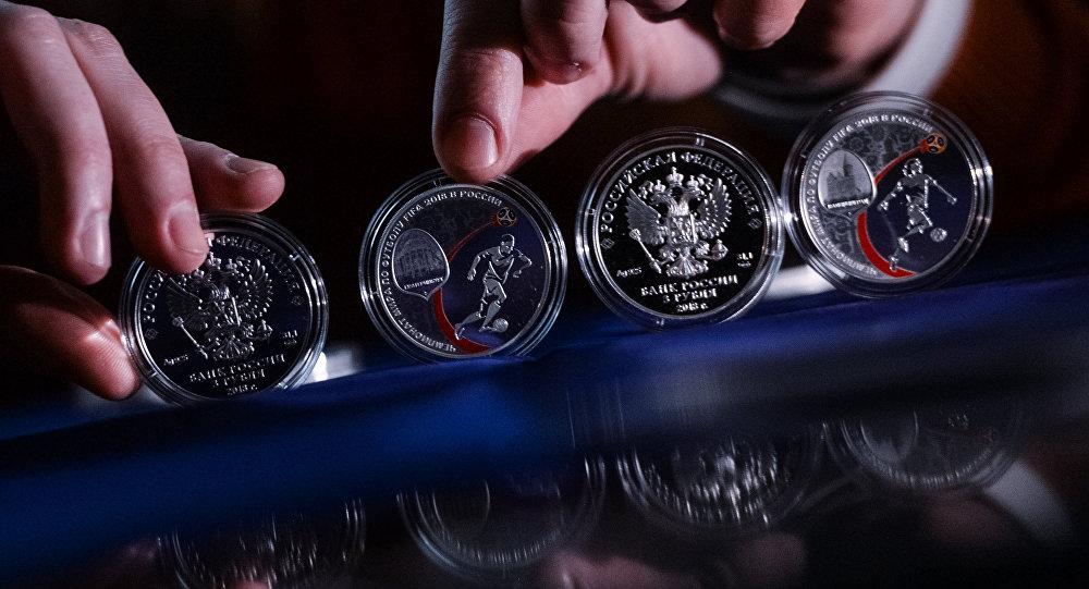 普京2018年赠送特朗普一套硬币