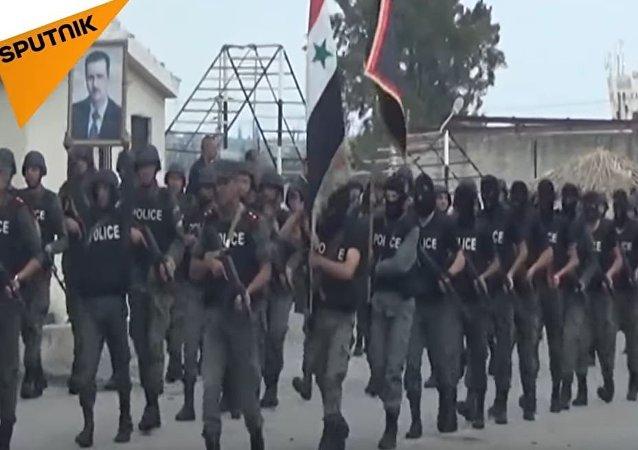 叙利亚警察将经过特殊培训 (视频)