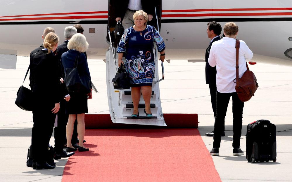G20各國領導人抵達漢堡