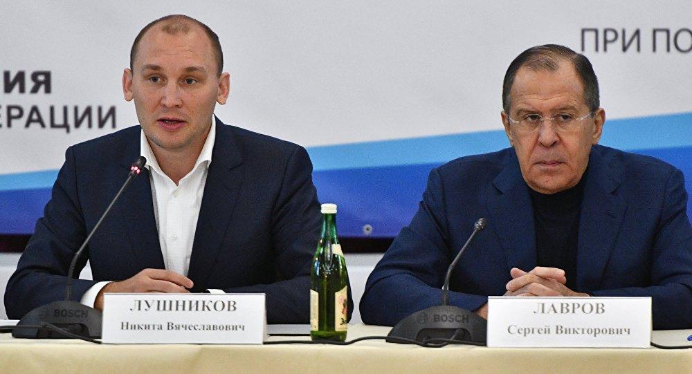 尼基塔•卢什尼科夫与俄罗斯外长拉夫罗夫