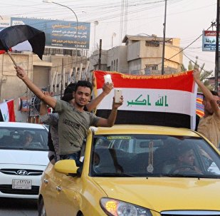 """摩苏尔庆祝被从""""达伊沙""""手中解放"""