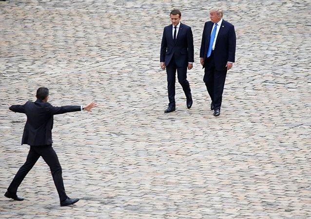 马克龙尊重特朗普就巴黎协议做出的决定