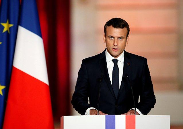 法国总统埃马纽埃尔·马克龙