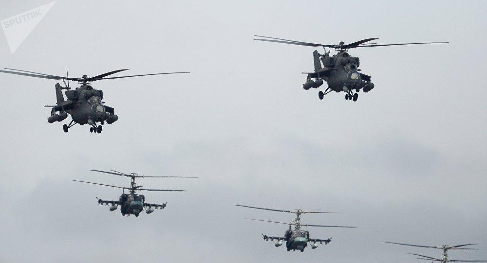 卡-52和米-35直升机