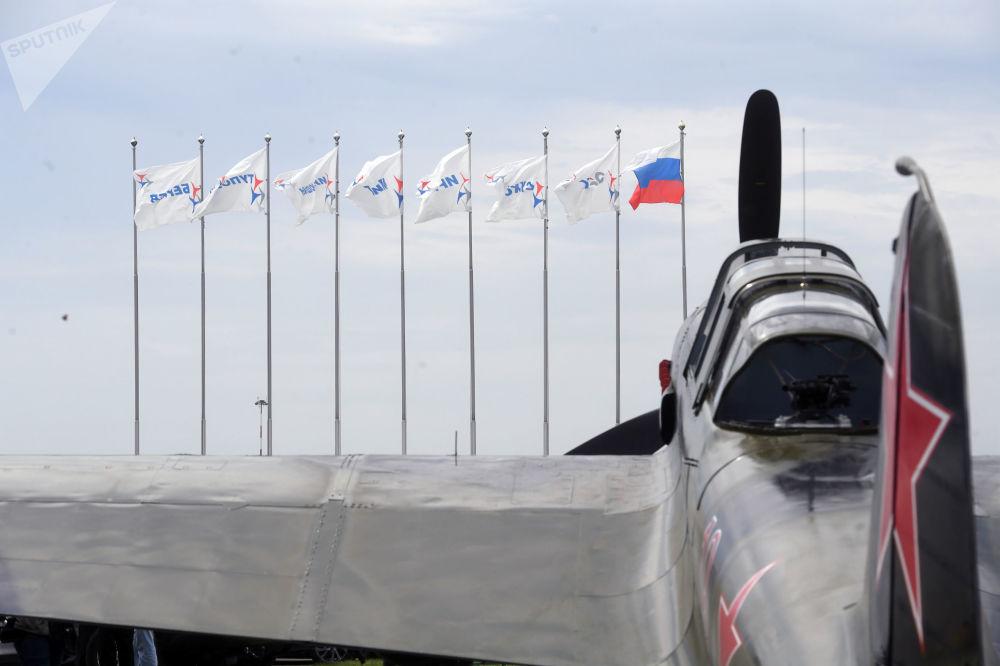 伊尔-2(1942年)在MAKS-2017航展靶场上。