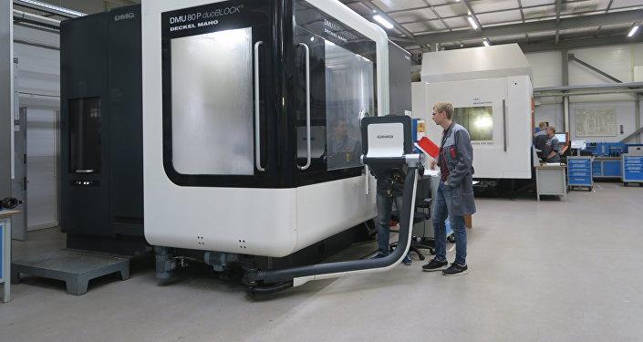 生产复合聚合材料制品的车间。