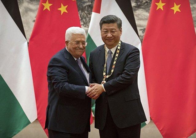 巴勒斯坦总统阿巴斯授予中国国家主席习近平巴国最高勋章
