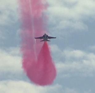 莫斯科航展訓練飛行精彩瞬間