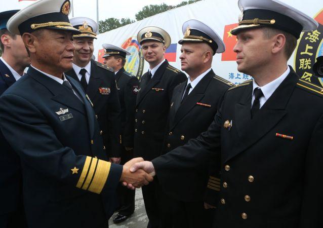 俄中海上联合军演