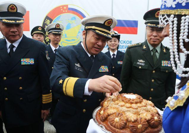 俄中首次波罗的海军演