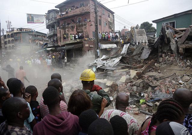 尼日利亚楼房倒塌