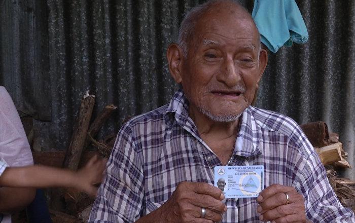 117岁尼加拉瓜老人或成世界上最年长的人