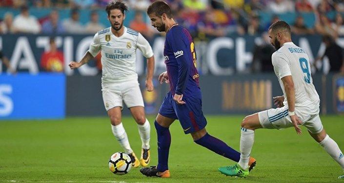 巴塞罗那击败皇马赢取国际冠军杯