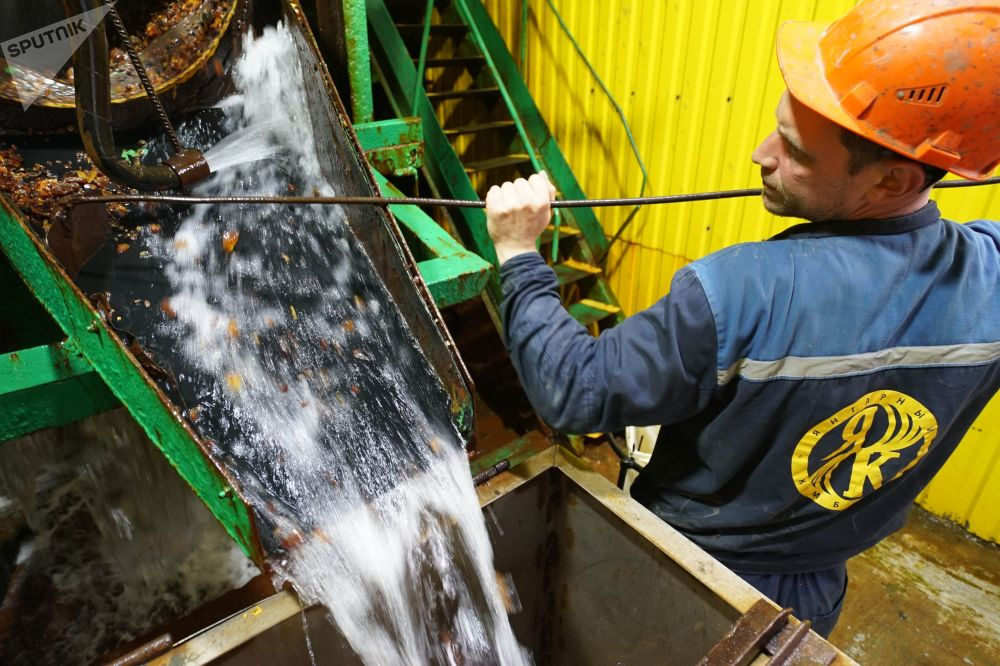加里宁格勒琥珀联合企业的琥珀富集区