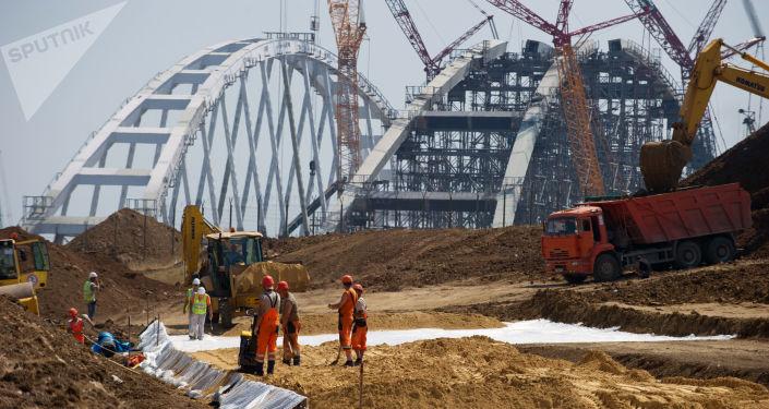 克里米亚跨刻赤海峡大桥施工未对海豚造成影响