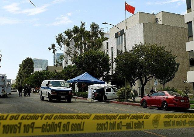 中国驻洛杉矶领事馆遭一身份不明人士射击