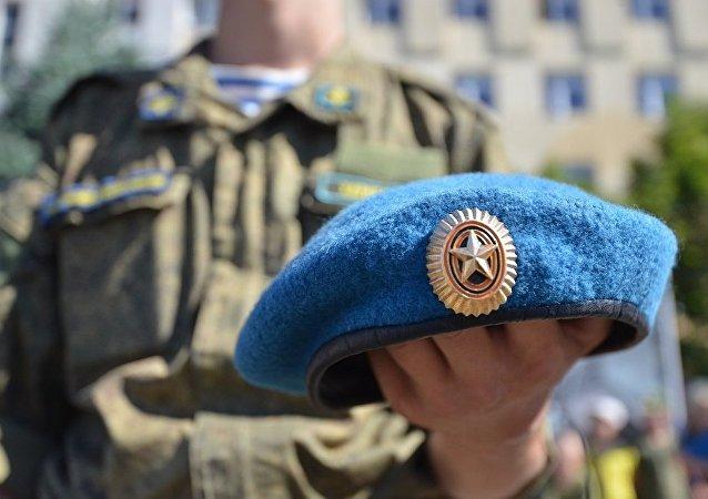 俄罗斯空降兵首次在中国庆祝了自己的节日