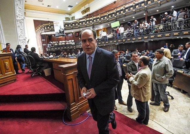 委内瑞拉国民警卫队为给制宪大会警戒而占领议会大厅