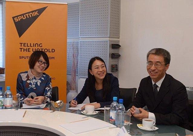 上海市外办代表团访问俄罗斯卫星通讯社