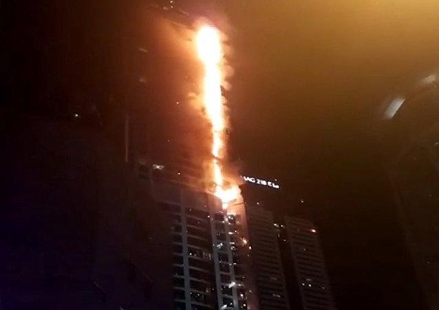 迪拜起火大楼