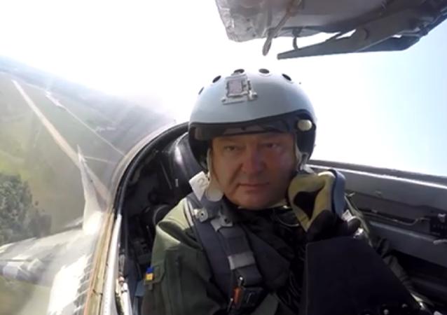 社交网页网友嘲讽乌克兰总统乘坐米格-29战机飞行