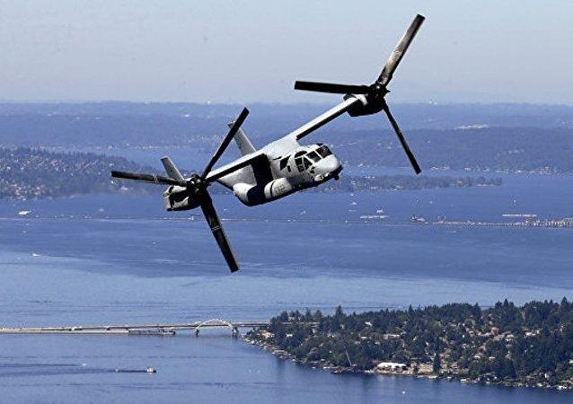 日冲绳县政府就美军倾转旋翼机在坠机事故后继续飞行提出抗议