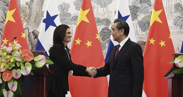 巴拿马副总统兼外长德圣马洛与中国外交部长王毅