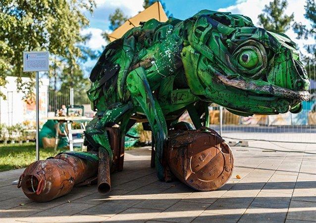 莫斯科建成侏罗纪时期的花园