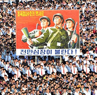 朝鲜系列政治海报表明威胁打击美国