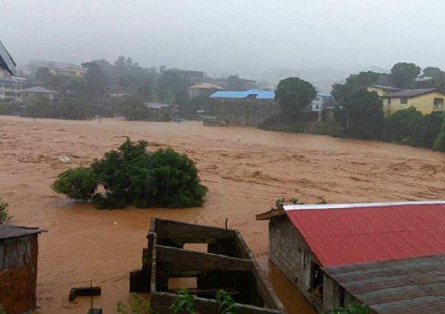 媒体:塞拉利昂山体滑坡造成310多人死亡