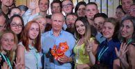 俄羅斯總統弗拉基米爾·普京出席一年一度的「塔夫里達」(Tavrida)全俄青年教育論壇。