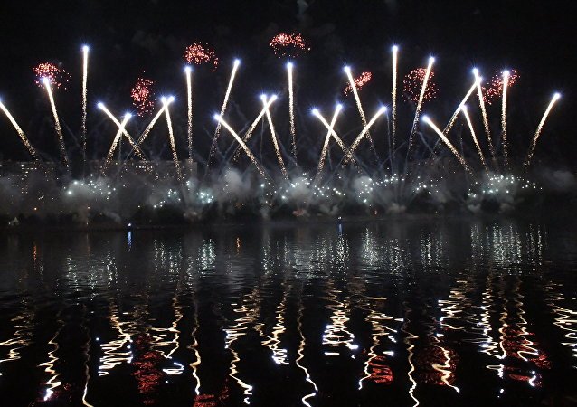 俄罗斯烟火队在莫斯科第三届国际烟花节中夺魁