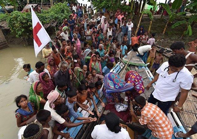 印度东部洪灾已导致250余人遇难