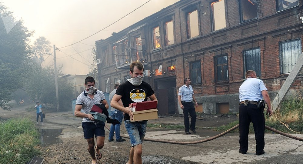 俄顿河畔罗斯托夫火灾中1人死亡